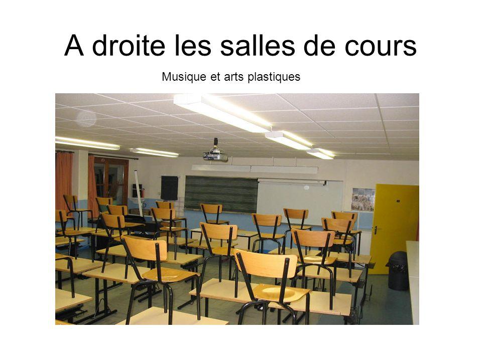 A droite les salles de cours Musique et arts plastiques