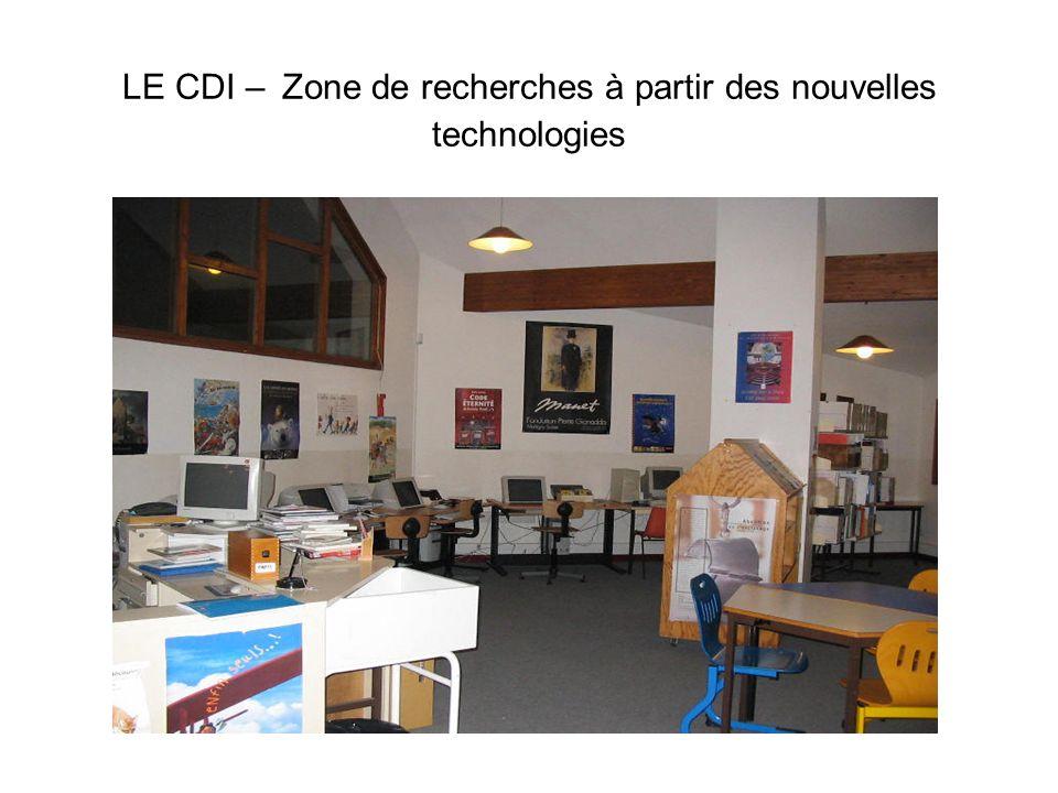 LE CDI – Zone de recherches à partir des nouvelles technologies