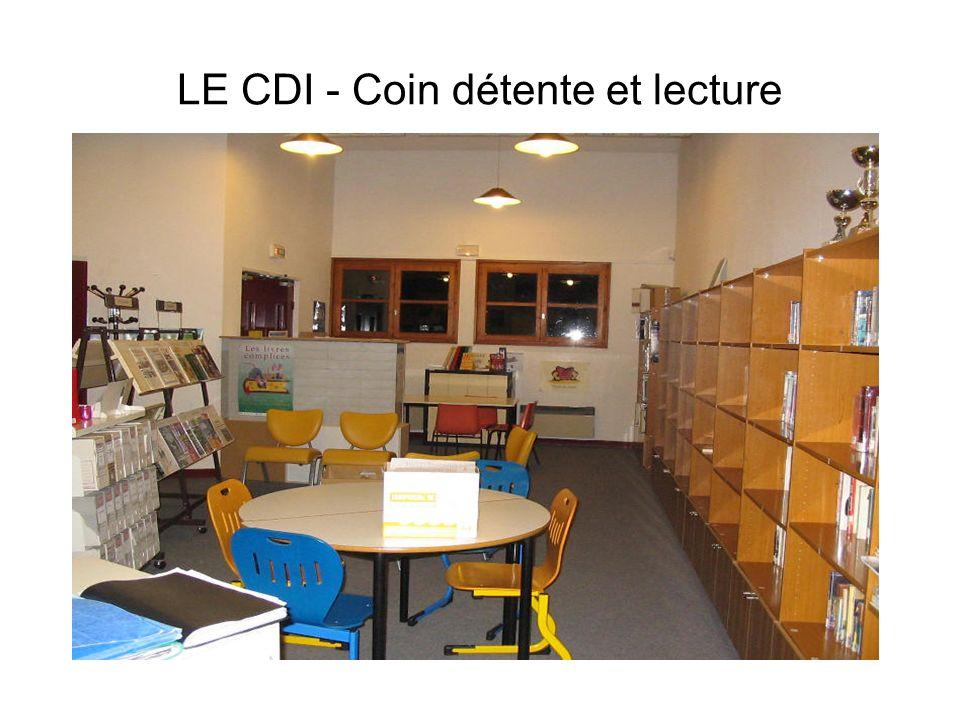 LE CDI - Coin détente et lecture