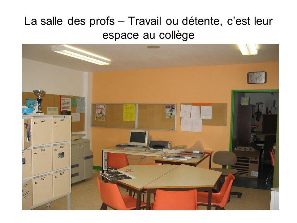 La salle des profs – Travail ou détente, cest leur espace au collège