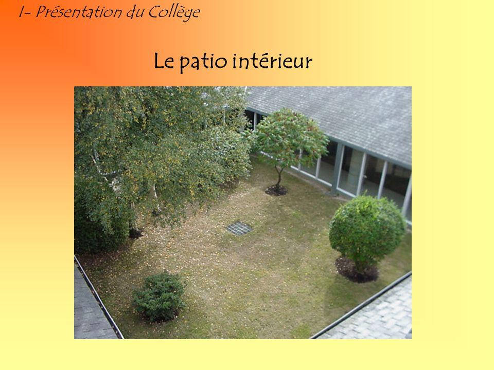 I- Présentation du Collège Le patio intérieur