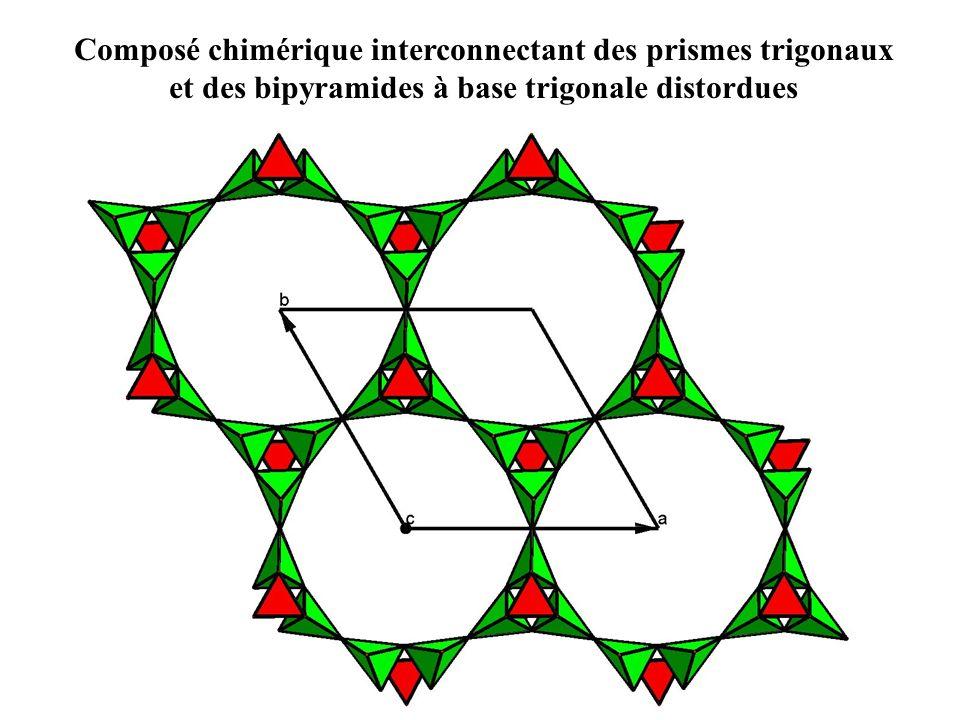 Composé chimérique interconnectant des prismes trigonaux et des bipyramides à base trigonale distordues