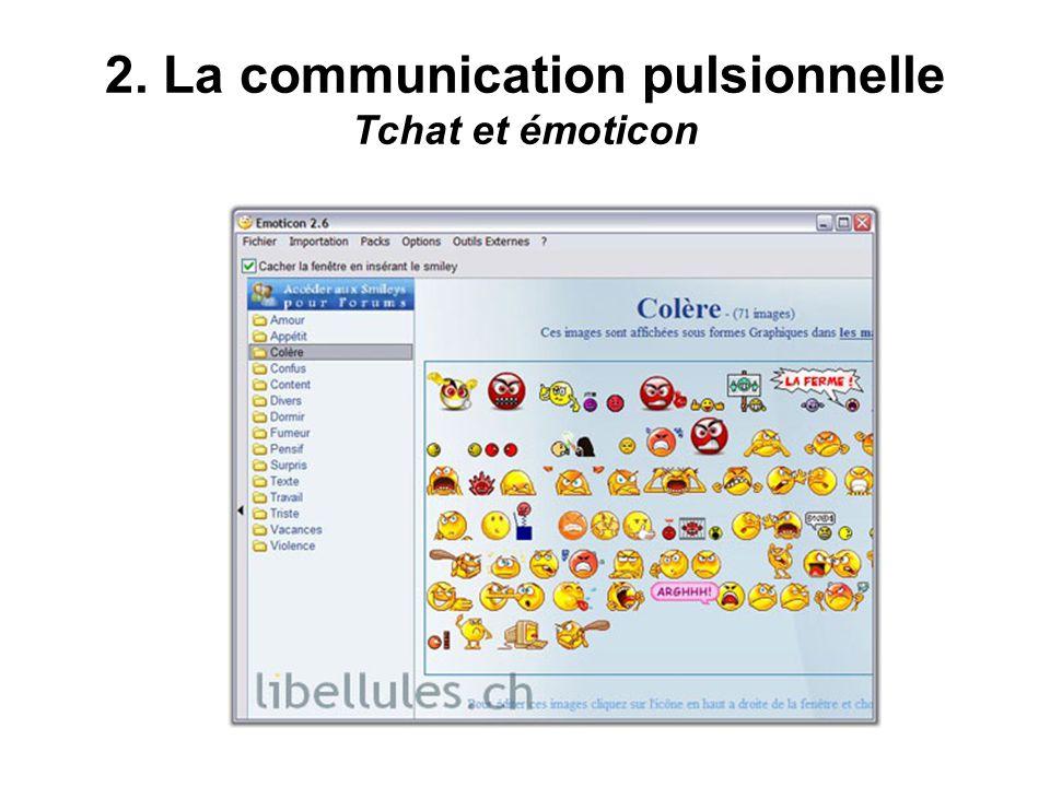 2. La communication pulsionnelle Tchat et émoticon