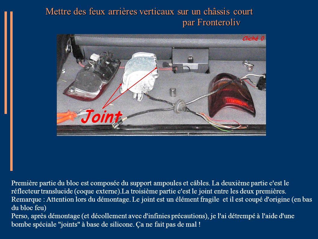 Mettre des feux arrières verticaux sur un châssis court par Fronteroliv Recommencez depuis l étape du cliché 3.