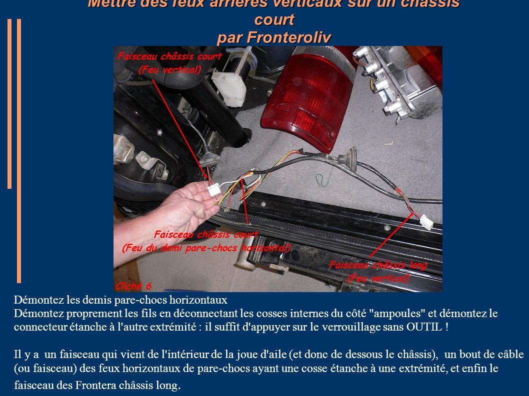 Mettre des feux arrières verticaux sur un châssis court par Fronteroliv Avant de raccorder les câbles entre eux, il faut couper les fils afin de les dénuder.
