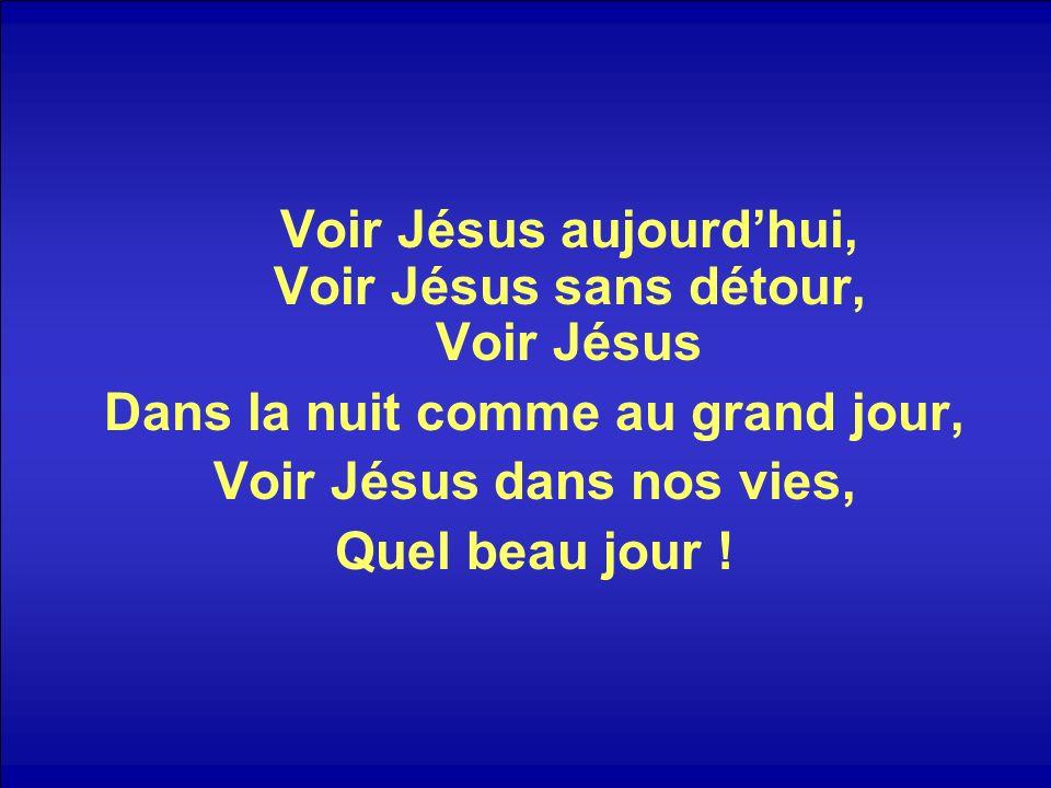 Voir Jésus aujourdhui, Voir Jésus sans détour, Voir Jésus Dans la nuit comme au grand jour, Voir Jésus dans nos vies, Quel beau jour !