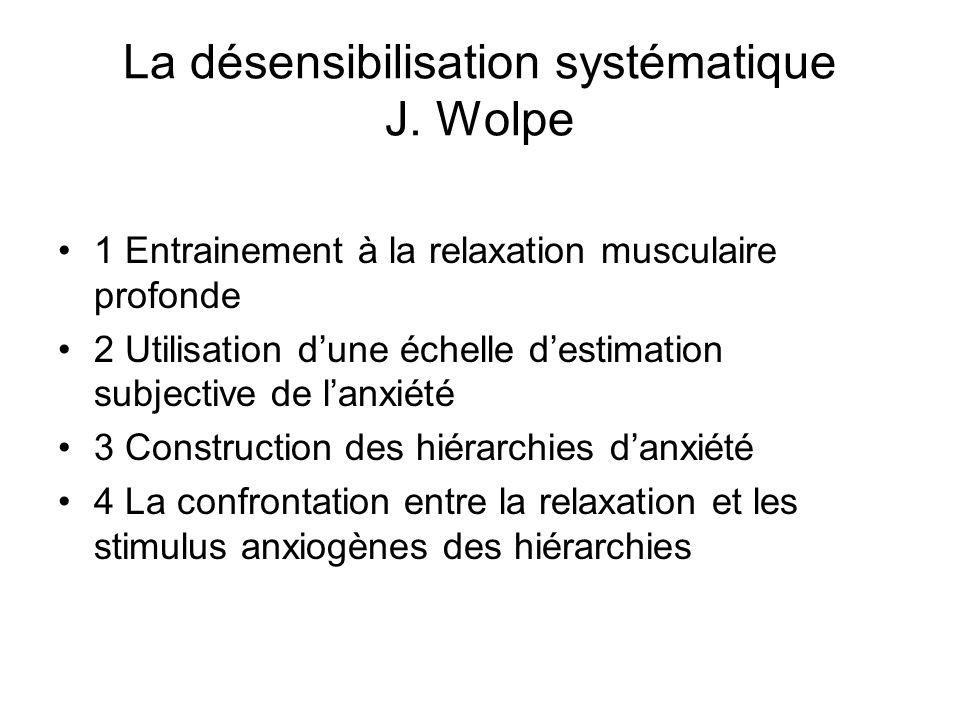 La désensibilisation systématique J.