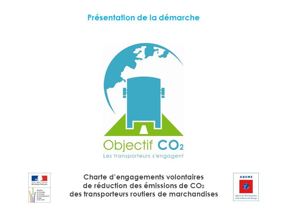 Présentation de la démarche Charte dengagements volontaires de réduction des émissions de CO 2 des transporteurs routiers de marchandises