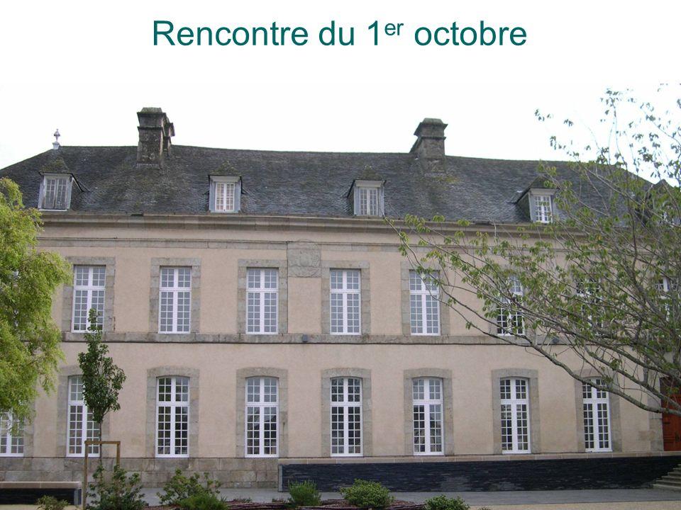 Rencontre du 1 er octobre