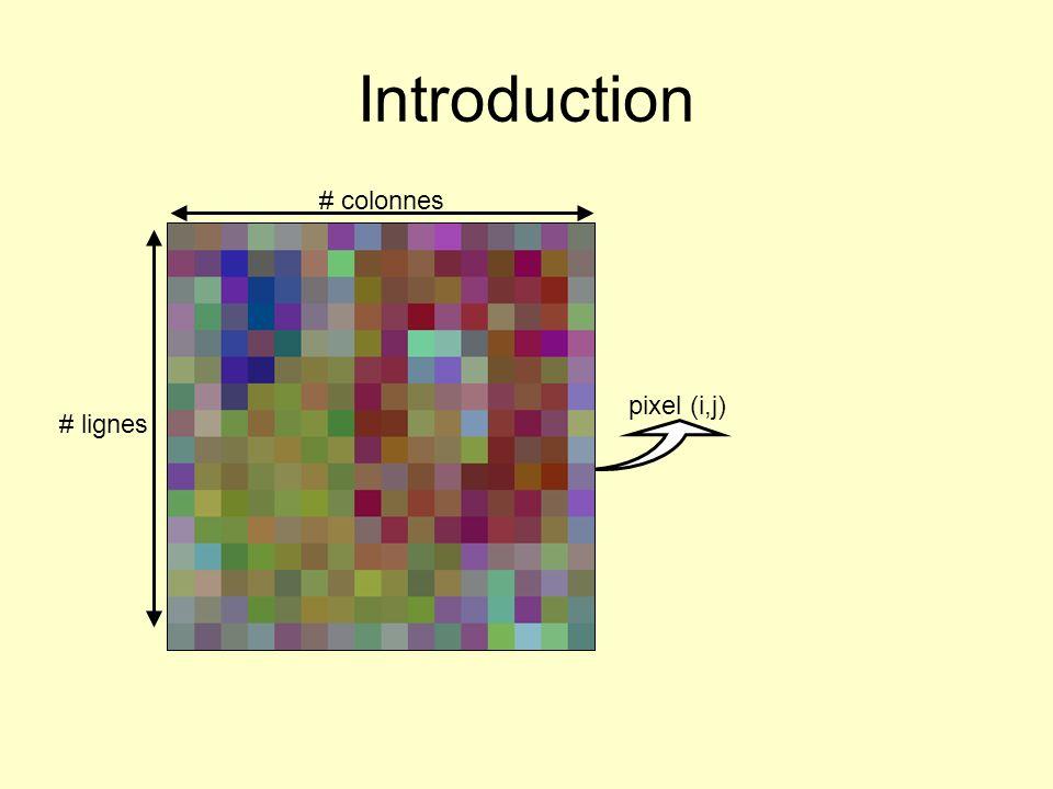 # colonnes # lignes pixel (i,j) Introduction