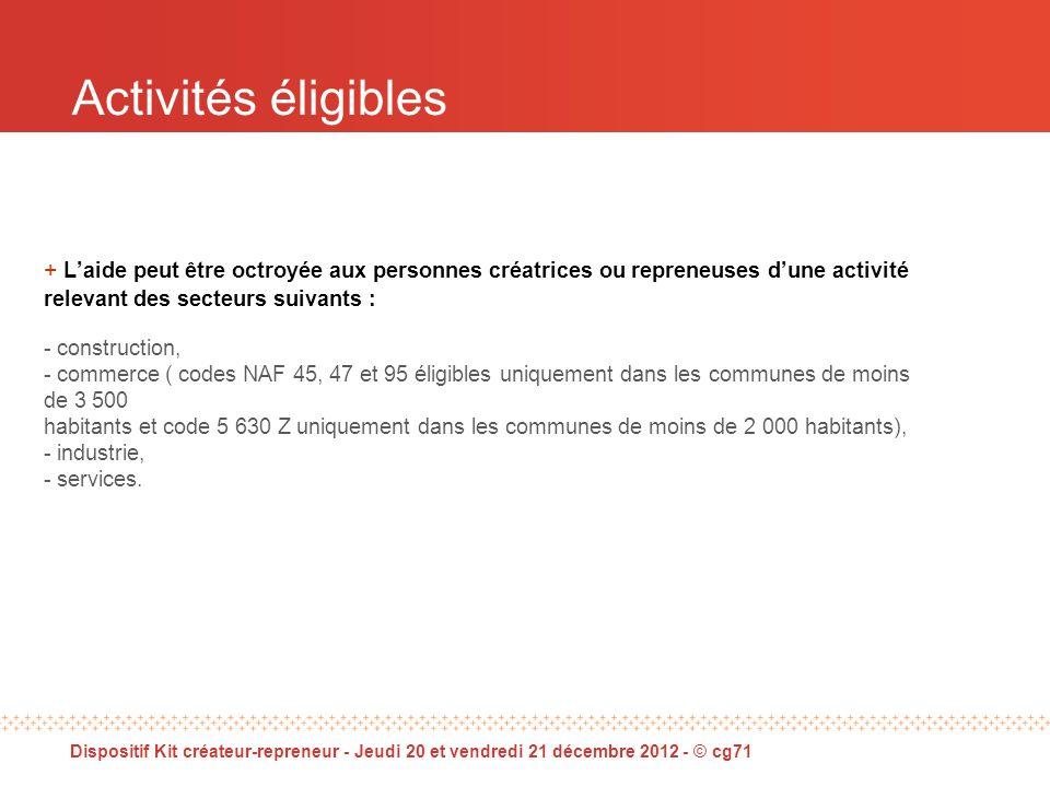 Dispositif Kit créateur-repreneur - Jeudi 20 et vendredi 21 décembre 2012 - © cg71 Éléments statistiques - Enquêtes à N+3
