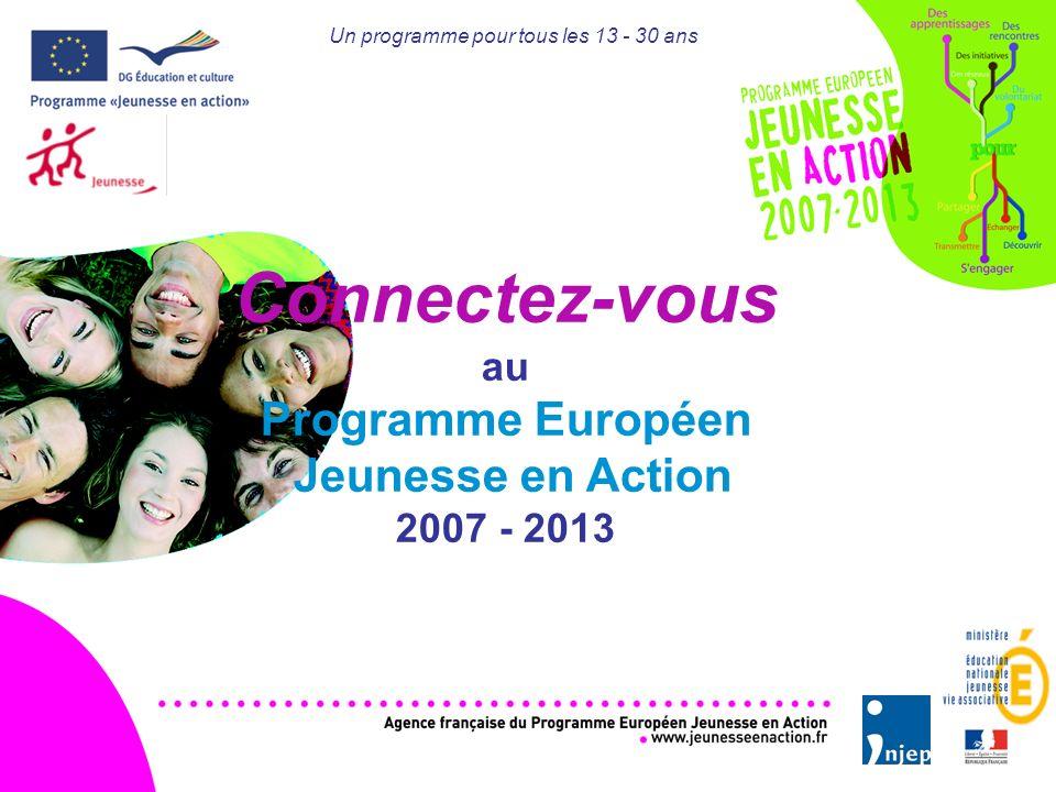 Un programme pour tous les 13 - 30 ans Connectez-vous au Programme Européen Jeunesse en Action 2007 - 2013