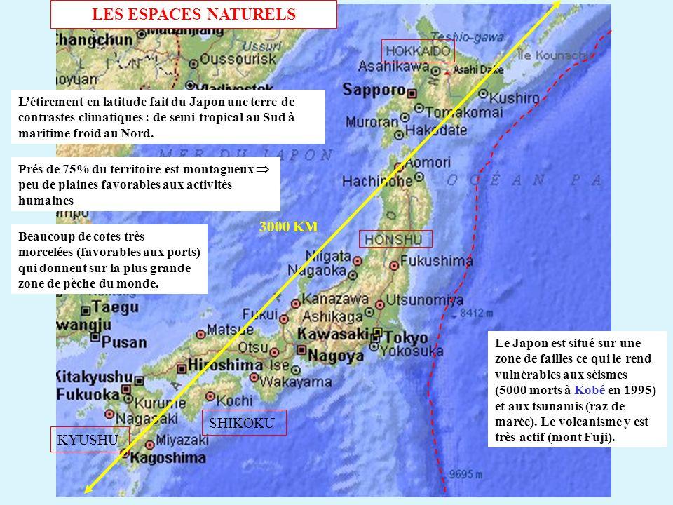 KYUSHU SHIKOKU 3000 KM Létirement en latitude fait du Japon une terre de contrastes climatiques : de semi-tropical au Sud à maritime froid au Nord. Le