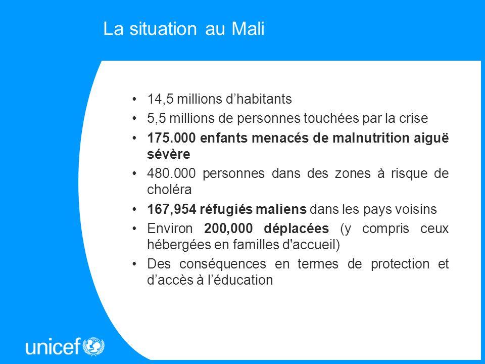 14,5 millions dhabitants 5,5 millions de personnes touchées par la crise 175.000 enfants menacés de malnutrition aiguë sévère 480.000 personnes dans d