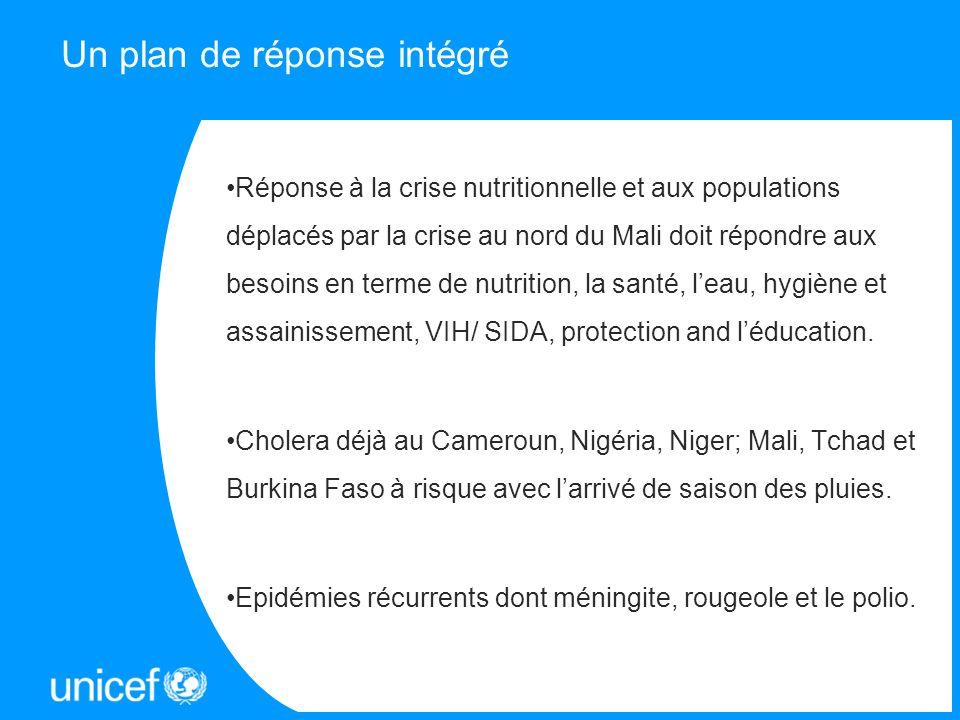 Un plan de réponse intégré Réponse à la crise nutritionnelle et aux populations déplacés par la crise au nord du Mali doit répondre aux besoins en ter