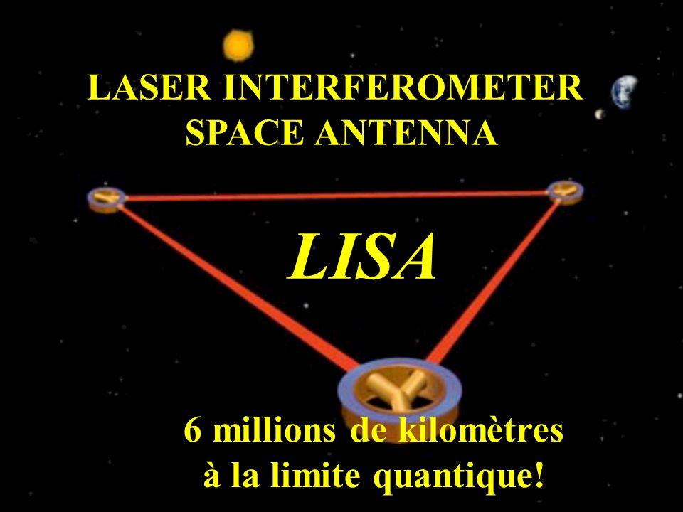 LASER INTERFEROMETER SPACE ANTENNA LISA 6 millions de kilomètres à la limite quantique!