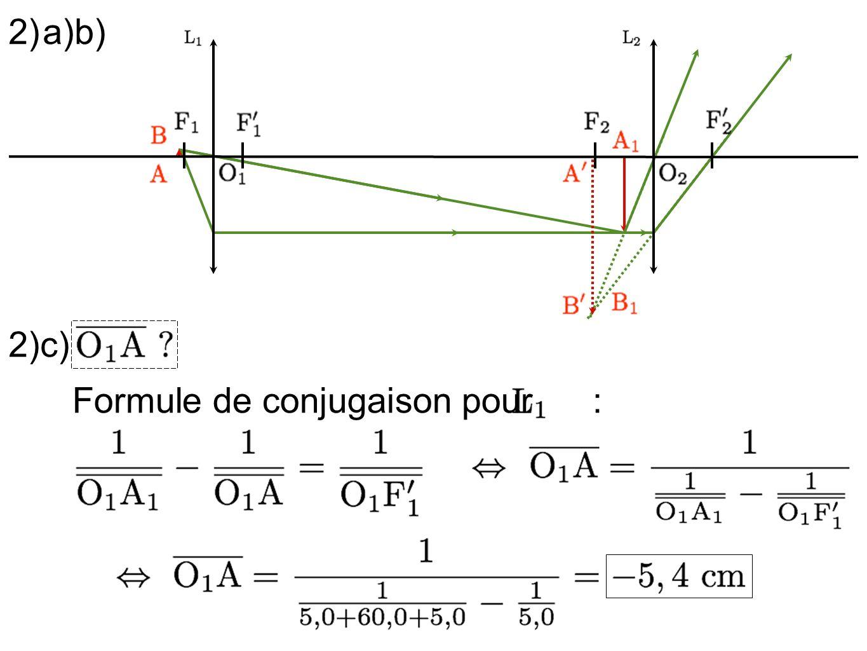 3/c/ Latitude de mise au point = différence des deux positions extrêmes de AB, permettant de voir une image AB nette à lœil nu : Valeur très faible : le microscope a un « profondeur de champ » très faible, on ne peut pas observer dobjets trop épais.