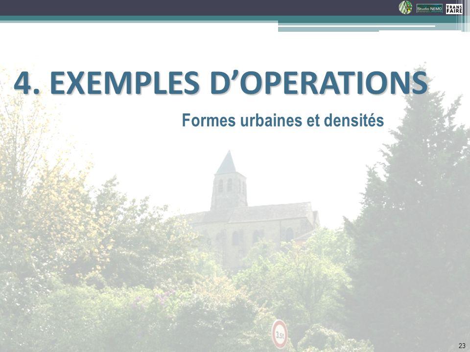 Formes urbaines et densités 4. EXEMPLES DOPERATIONS 4. EXEMPLES DOPERATIONS 23