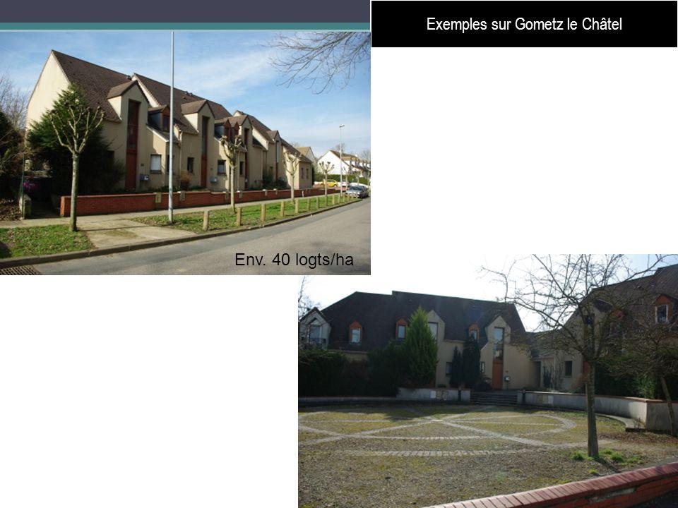 25 Exemples sur Gometz le Châtel Env. 40 logts/ha