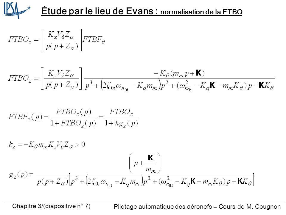 Chapitre 3/(diapositive n° 8) Pilotage automatique des aéronefs – Cours de M.