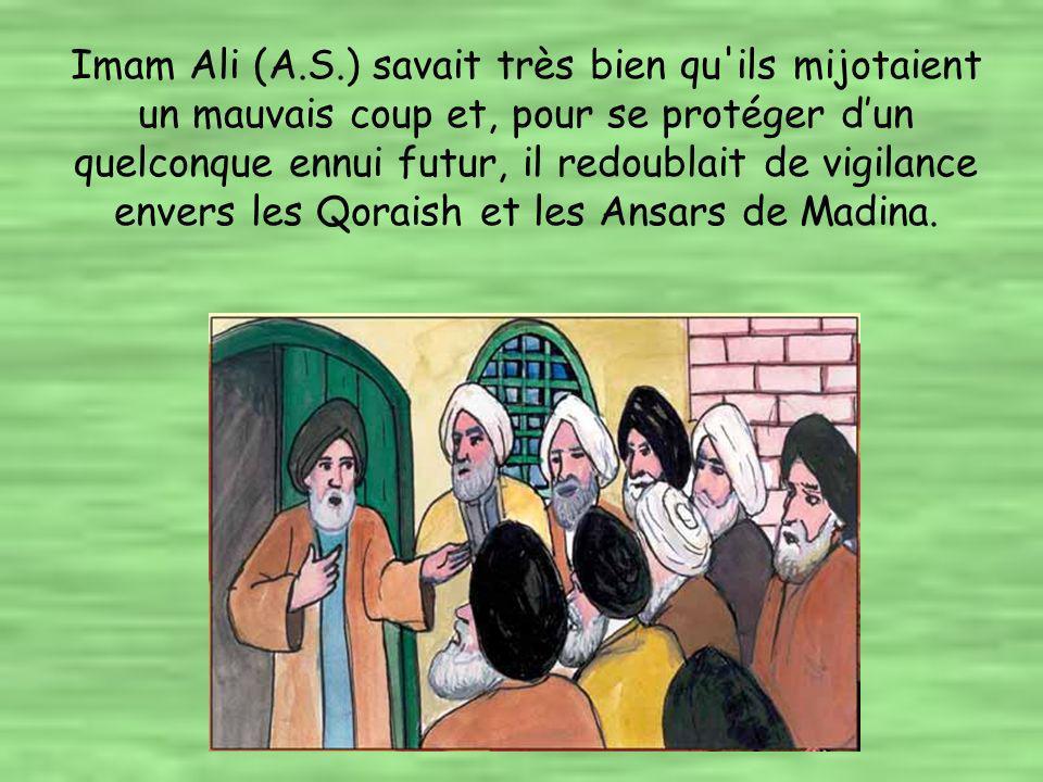 Entre temps, les membres des Bani Oumayyah, dont la plupart n avaient pas prêté serment d allégeance à Imam Ali (A.S.), décidaient petit à petit de quitter Madina.