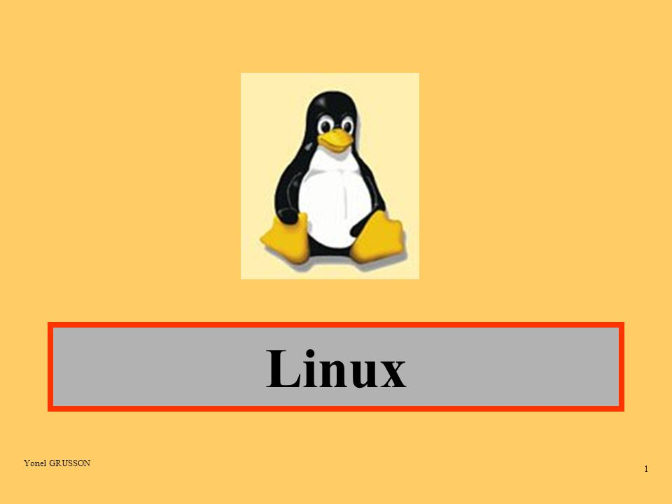 Yonel GRUSSON 2 Introduction Les origines A l origine Linux est un noyau UNIX créé en 1991 dans le cadre d un projet initialisé et coordonné par Linus TORVALDS.