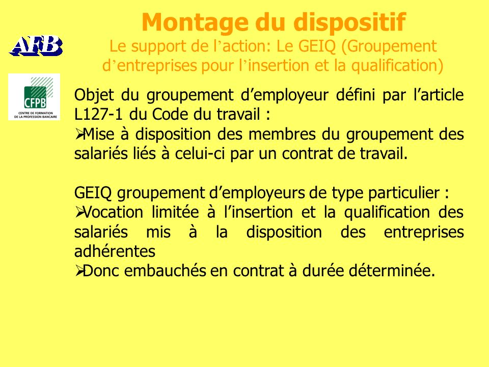 Bilans Les résultats spécifiques de la Banque Populaire du Nord 10salariés du GEIQ y ont travaillé.