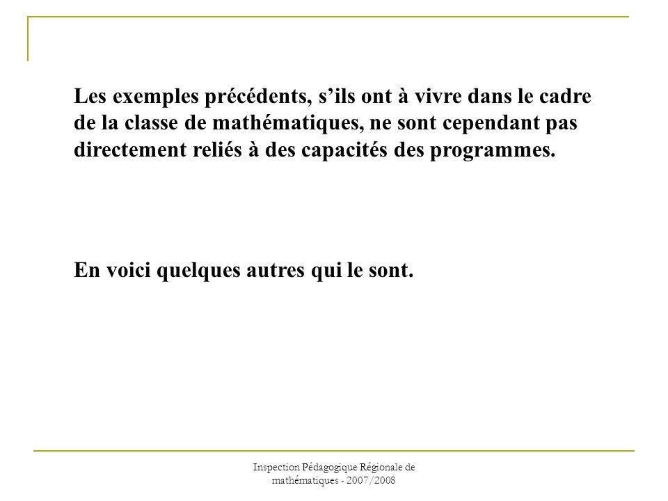Inspection Pédagogique Régionale de mathématiques - 2007/2008 Connaissance de la compétence «la maîtrise de la langue française » AVEC L ambiguïté introduite par la lecture courante, comme par exemple « 3 multiplié par 18 plus 5 » pour 3x(18 + 5) (programme de 5ème, « Nombres et calculs », paragraphe « Nombres entiers et décimaux positifs : calcul, divisibilité sur les entiers »).