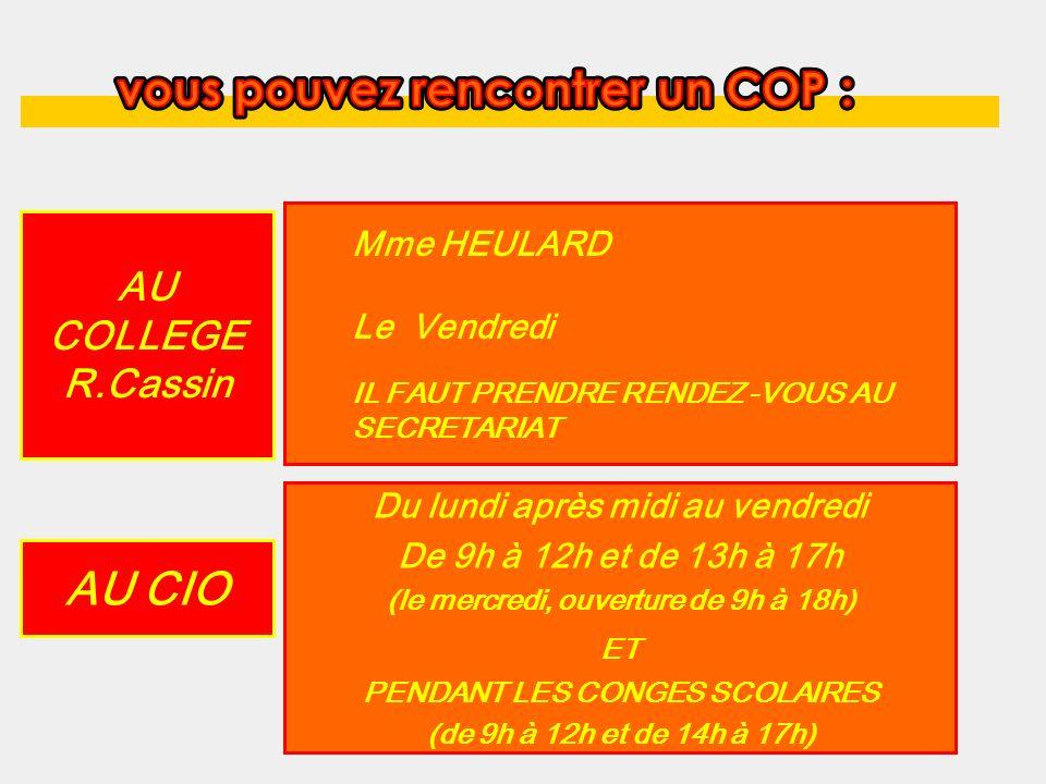 COP Du lundi après midi au vendredi De 9h à 12h et de 13h30 à 17h (le mercredi, ouverture jusquà 17h30) ET PENDANT LES CONGES SCOLAIRES (de 9h à midi