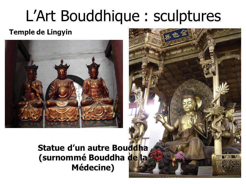 LArt Bouddhique : sculptures Statue dun autre Bouddha (surnommé Bouddha de la Médecine) Temple de Lingyin