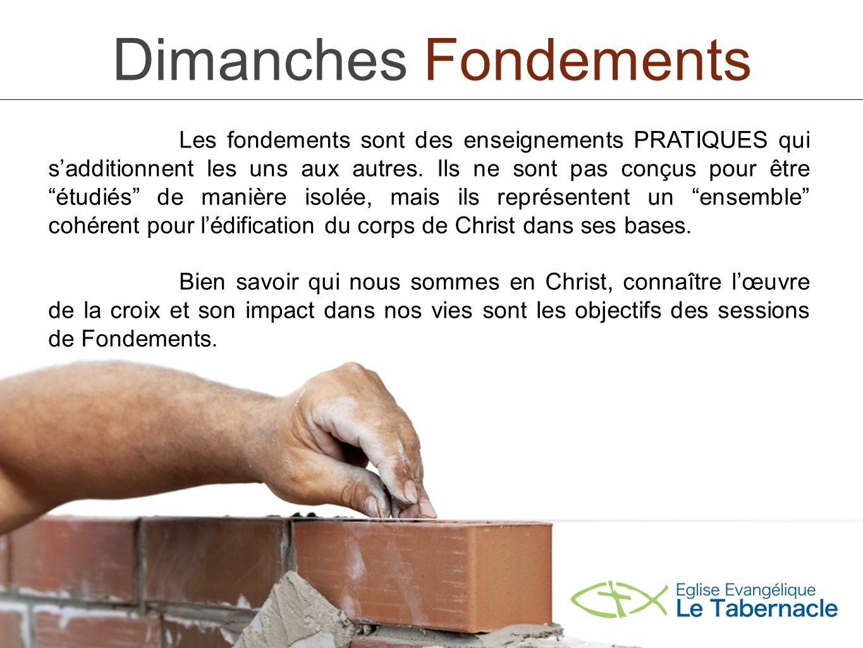Dimanches Fondements Sujet 3: Justification, sanctification, rédemption.