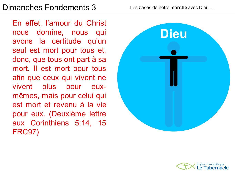 Car pour bien savoir qui nous sommes, nous devons savoir ce quil sest passé (dans lœuvre de la croix) Dimanches Fondements 3 Les bases de notre marche avec Dieu....