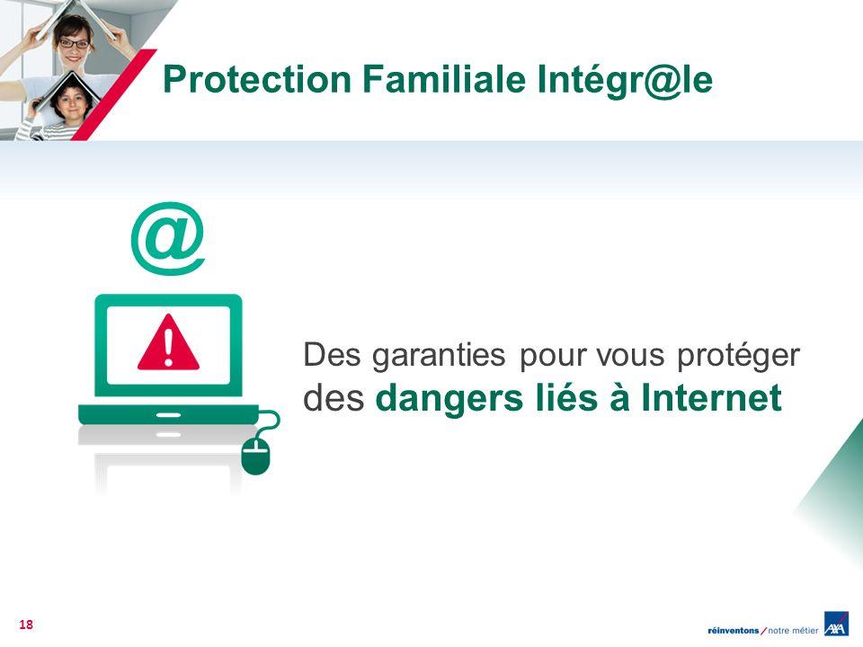 Protection Familiale Intégr@le Des garanties pour vous protéger des dangers liés à Internet 18 @