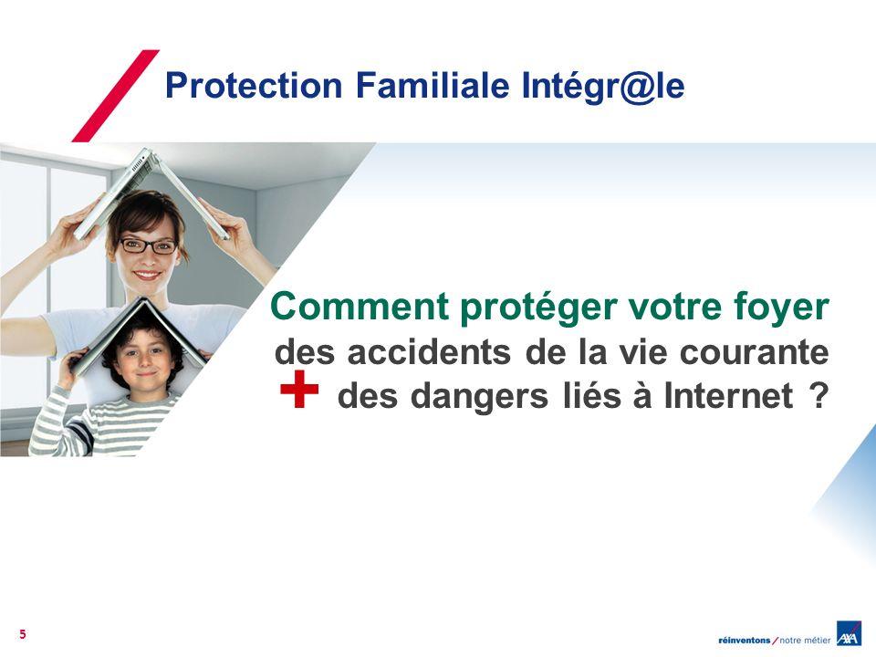 La solution AXA Protection Familiale Intégr@le La seule assurance qui vous protège, des dangers liés à Internet des accidents de la vie courante.