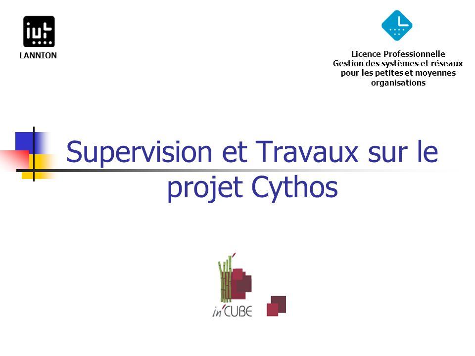 Supervision et Travaux sur le projet Cythos Licence Professionnelle Gestion des systèmes et réseaux pour les petites et moyennes organisations LANNION