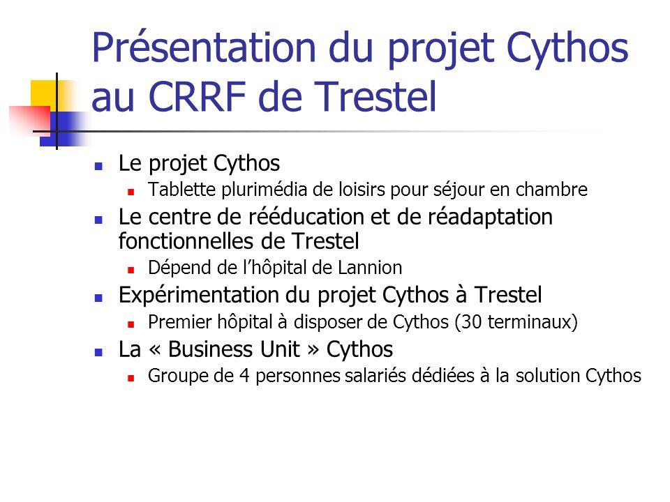 Présentation du projet Cythos au CRRF de Trestel Le projet Cythos Tablette plurimédia de loisirs pour séjour en chambre Le centre de rééducation et de
