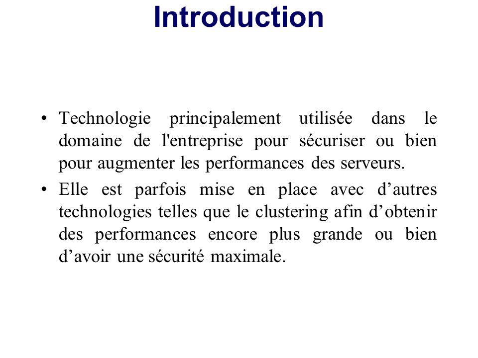 Technologie principalement utilisée dans le domaine de l'entreprise pour sécuriser ou bien pour augmenter les performances des serveurs. Elle est parf