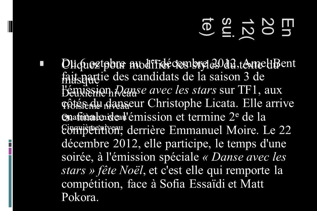 Cliquez pour modifier les styles du texte du masque Deuxième niveau Troisième niveau Quatrième niveau Cinquième niveau En2012(suite) Du 6 octobre au 1