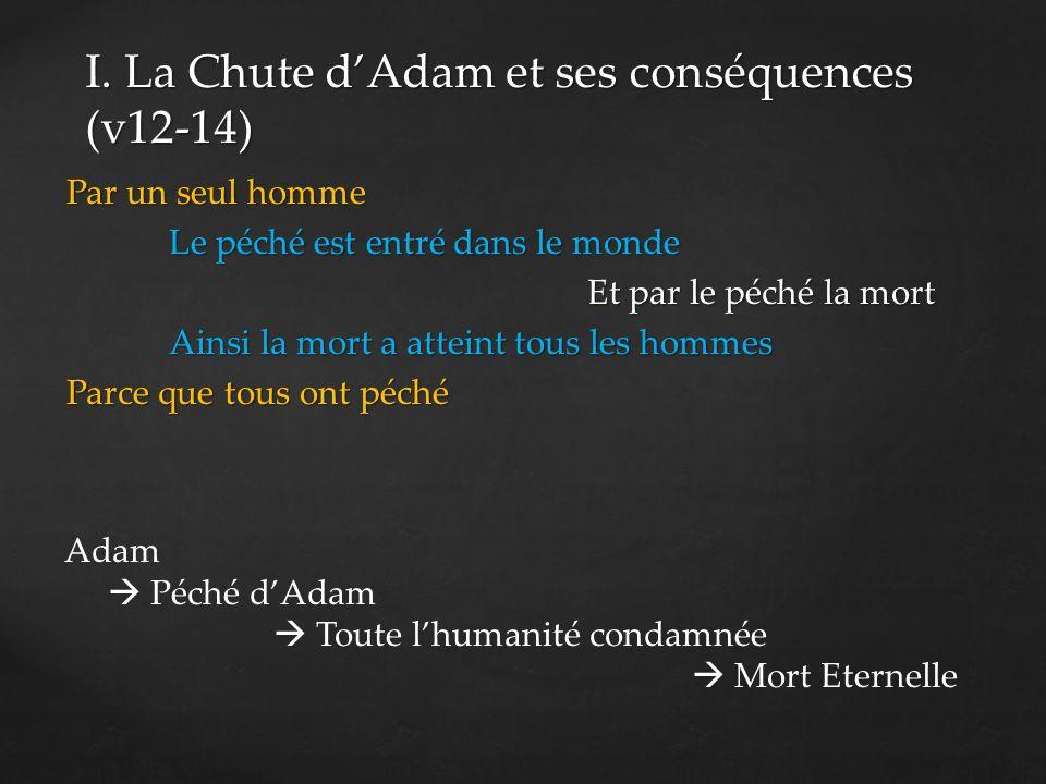 1.La chute par Adam (v12) 2. La chute pour lhumanité en Adam 3.