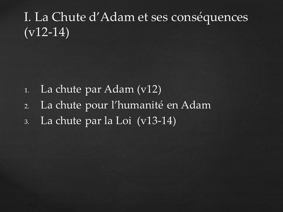 1. La chute par Adam (v12) 2. La chute pour lhumanité en Adam 3.
