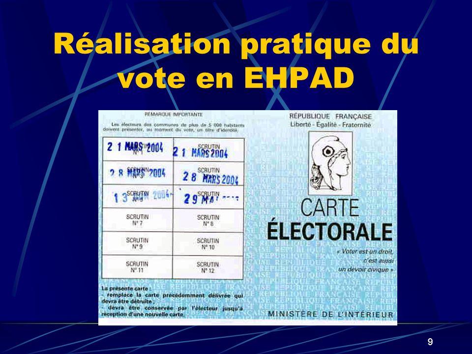 9 Réalisation pratique du vote en EHPAD