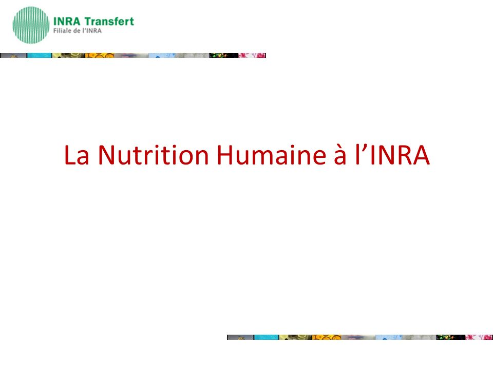 La Nutrition Humaine à lINRA