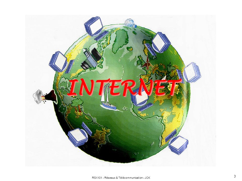 RSX101 - Réseaux & Télécommunication - JCK 3 INTERNET