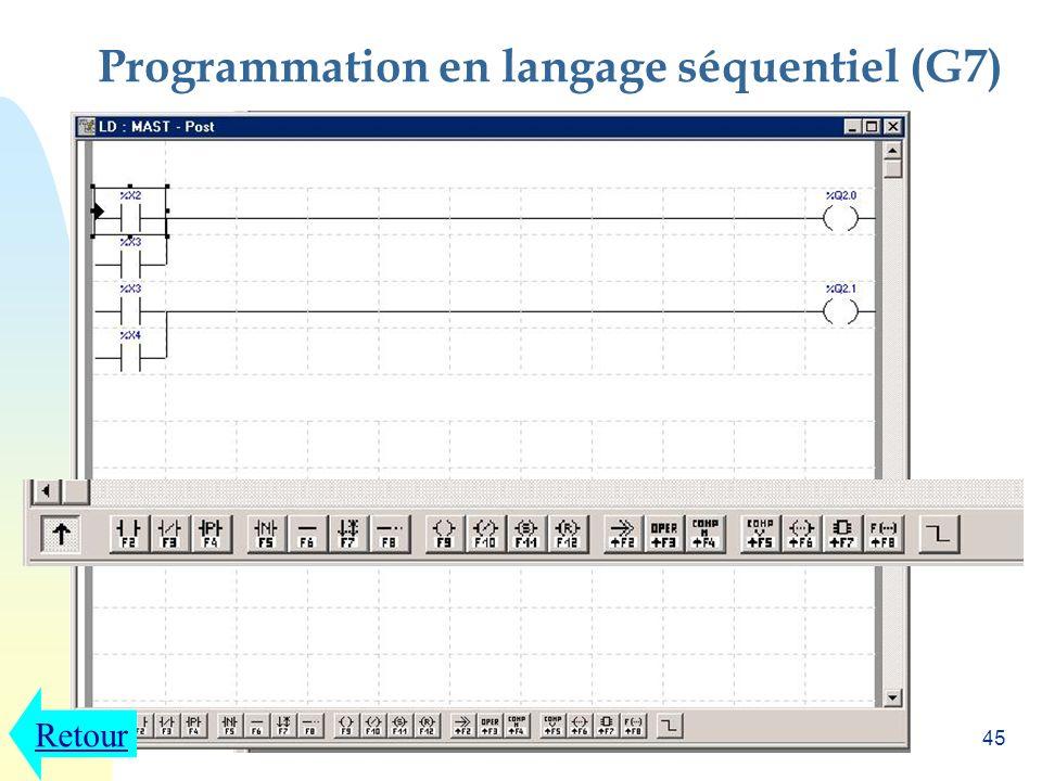 44 Programmation en langage séquentiel (G7)