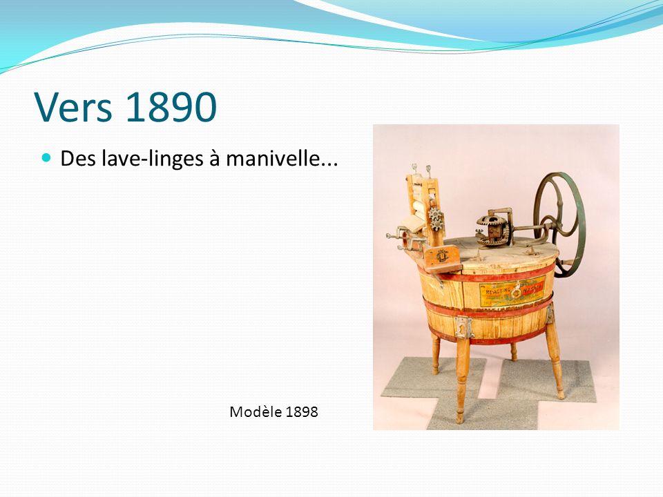 1906-1915 Premiers lave-linges électriques 1910 1915