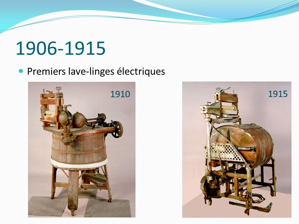 1924-1930 Des lave-linges avec essorage… 1924 1927