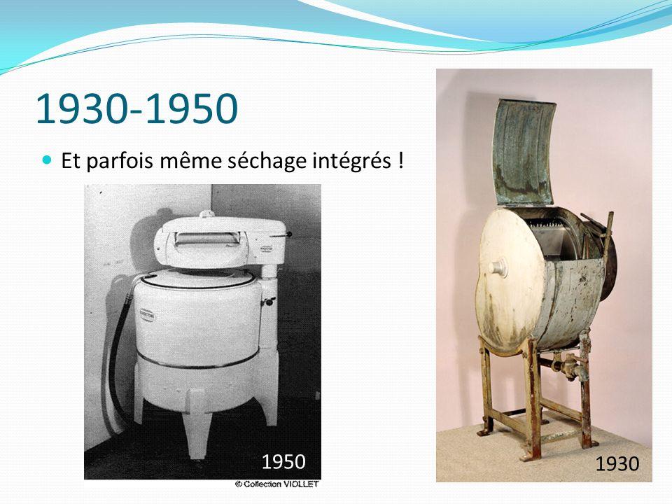 1940-1955 Premiers lave-linges automatiques à cycles de lavage programmés (sur le modèle de ce que nous connaissons aujourdhui) 1954