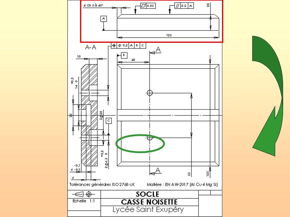 CI.13: Mesure et contrôle des spécifications géométriques Procédure de contrôle a/ Balançage de la pièce: - Positionner la pièce de façon stable sur les 3 appuis réglables en les répartissant sur la surface.
