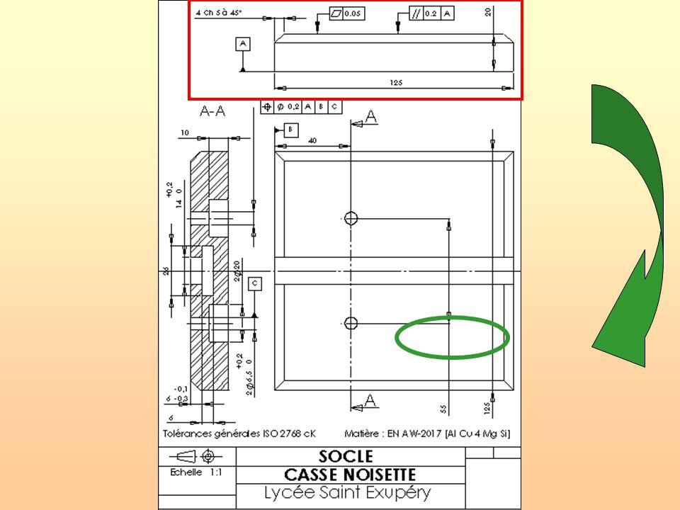 CI.13: Mesure et contrôle des spécifications géométriques Procédure de contrôle a/ Réglage du comparateur: - Positionner la surface de référence de la pièce sur le marbre.
