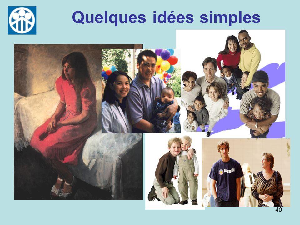 40 Quelques idées simples